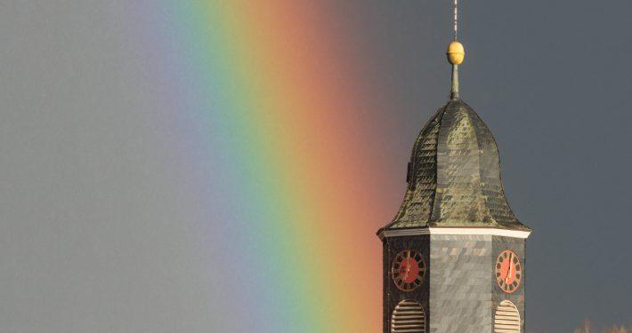 Hammenstedt Kirchturm Regenbogen