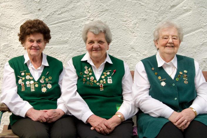 Gründerinnen Edith Rode,Emmi Köcher, Hilde Keune von links